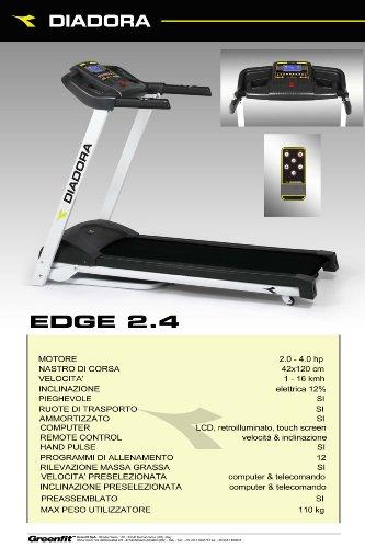 Diadora Edge 2.4 Tapis Roulant 5defde2816e