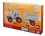 Metallbaukasten, Traktor mit Anhänger, 751 Teile, Tronico, inklusive Werkzeug