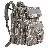 G4FREE 40L Tactical Assault Rucksack wasserabweisend Armee MOLLE Rucksack Military Rucksack mit abnehmbarer Tasche für Outdoor Wandern Camping Trekking Jagd, ACU Camouflage