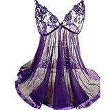 DDLBiz® Frauen Stickerei Dessous Schlafanzug Unterwäsche Pyjamas (3XL)