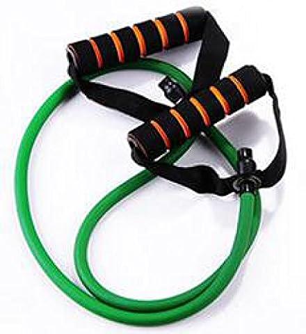 Couleur De Poitrine Câble De Traction Harnais Yoga Poignée Mince Corde élastique 2,Green