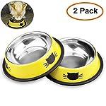 Comsmart Cat Bowl, Anti-slip Cat Food Bowl/Cat Feeding Bowl/Cat Water Bowl, Multi-purpose Double Pet Feeding Bowl (White… 17