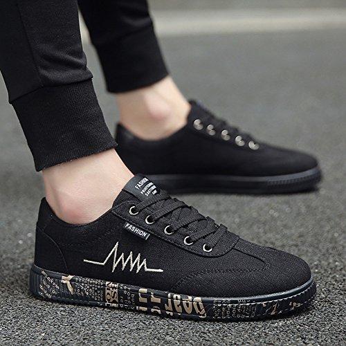 XUEQIN durevoli scarpe da uomo di tendenza scarpe scarpe casual scarpe tela di canapa autunno ( Colore : 5 , dimensioni : EU41/UK7.5-8/CN42 ) 3