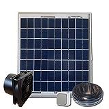 Sellande Kit de ventilation solaire 5W 12V - VMC - Extracteur 100m3/h- EXPEDIE DEPUIS LA FRANCE