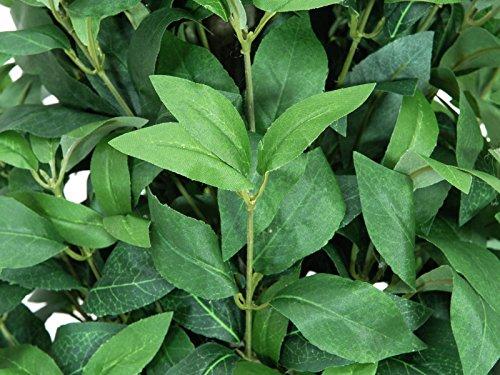 artplants Set 2 x künstlicher Lorbeerkugelbaum Leonardo im Topf, grün, 180 cm – Lorbeerbaum/Kunstbaum
