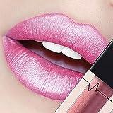 CICIYONER Damen Metall Lippenstift Lip Gloss Liquid Lippe Kosmetik, 24 Farben (23 #)