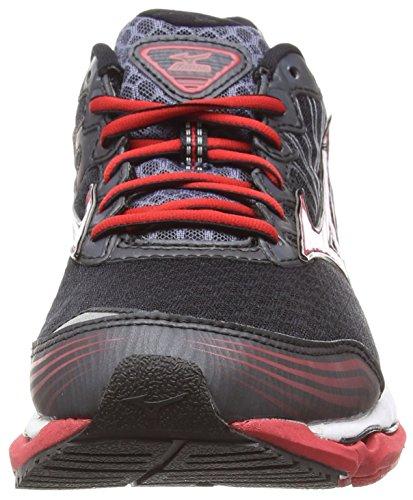 Mizuno Wave Paradox 2, Chaussures de Running Compétition homme Noir (Black/White/Chinesered)