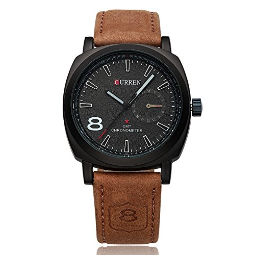 Curren Leather Strap Stylish Analogue Men's Watch