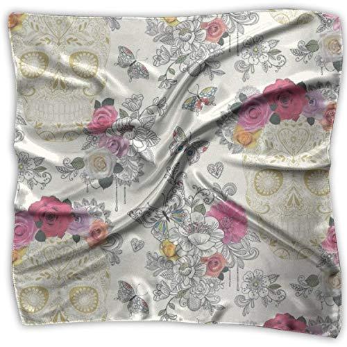 Elegant Women Scarf Satin Square Neck Scarves Neckerchief Perfect Gift Satin Square Neck