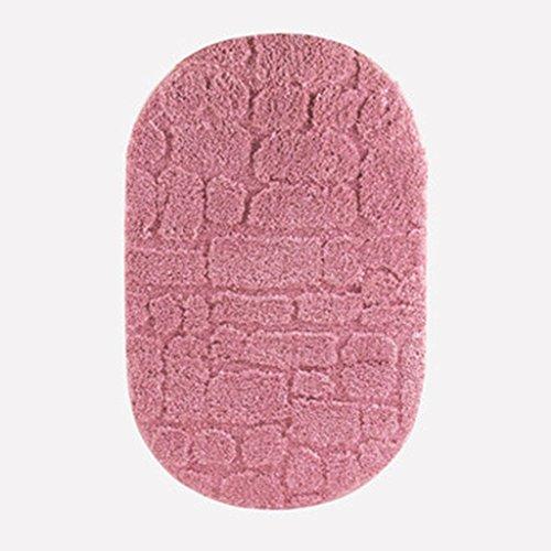 Tapis de bain Salle de Bains Toilettes Porte Tapis Tapis Anti-dérapant Salle de Bains WC Porte Tapis Tapis Anti-dérapant (Color : Pink, Size : 60 * 90cm)
