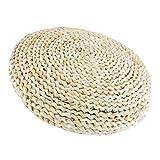 D DOLITY Stroh Sitzkissen gepolstert mit Seidenbaumwolle für Boden, Bürostuhl - Natürlich1, 30 cm
