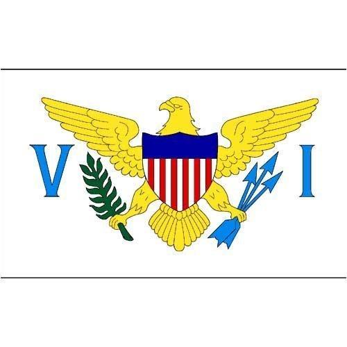 Online-Shops USA Jungferninseln Flagge, 3von Geschenkpapierrolle 150cm von Online-Shops Inc.