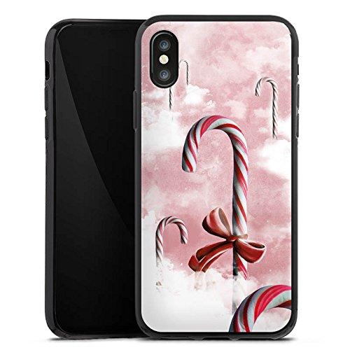 Apple iPhone X Silikon Hülle Case Schutzhülle Süßigkeiten Candy Himmel Silikon Case schwarz