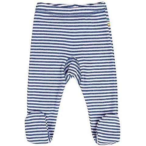 JOHA - Baby Giovane Ragazza Pagliaccetto - Pantaloni con Piede MIX STRIPEZ con Strisce