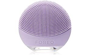 FOREO LUNA go Portable and Personalized Facial Cleansing Brush with Anti-Aging for Sensitive Skin, USB Rechargeable and Waterproof