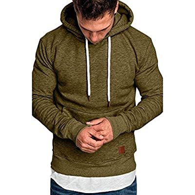 LINK Men's Long Sleeve Autumn Winter Casual Sweatshirt Hoodies Top Blouse Tracksuits : everything £5 (or less!)
