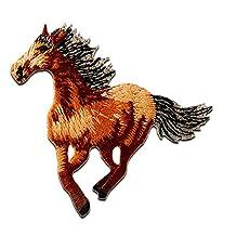 Parches - caballo galope animal - marrón - 4,6x5cm - by catch-the-patch® termoadhesivos bordados aplique para ropa