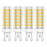 4 Stück G9 LED Lampen 9W LED Lampe Warmweiß 3000K 76 SMD 2835LEDs 360 Grad Abstrahlwinkel Hohe Helligkeit 700LM LED Bulb AC220-240V