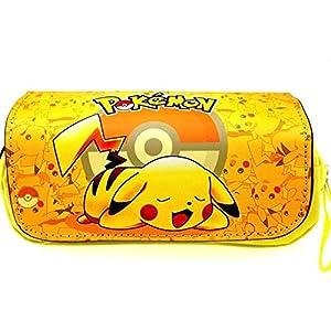 Anime Pokemon caja de lápices bolsa linda bolsa de maquillaje Pikachu escuela caja de lápices bolsas de cosméticos al…