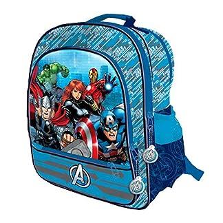 Mochila Los Vengadores Marvel Team cuatro bolsillos adaptable 41cm
