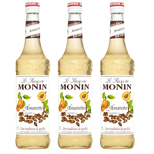 Monin Sirup Amaretto, 0,7L 3er Pack
