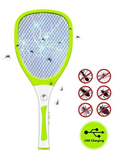 Urslif Raquette Anti-moustiques Électrique...