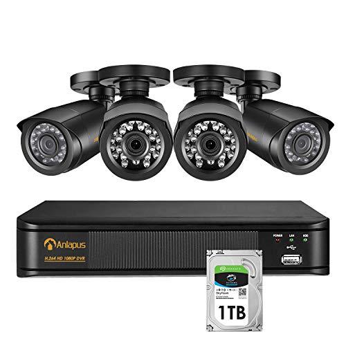 Anlapus 1080P Sistema Seguridad 8 Canales