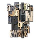 Cuadros Lifestyle 2D-Wandobjekt/Figur 'Alphabet'   Wanddekoration, Größe:ca. 50x75 cm