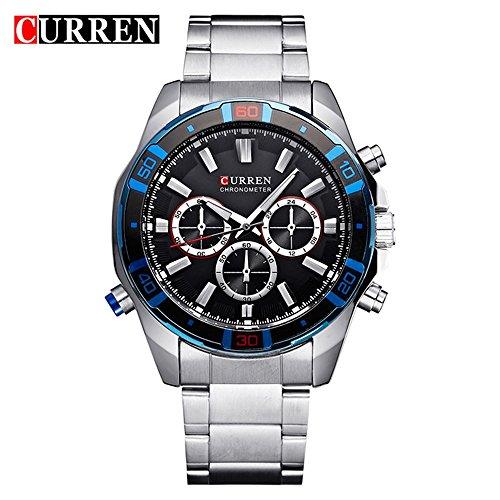 Sports Watches Herrenuhren Business-wasserdichte Quarzuhr der Studenten-Männeruhr-Männer Damenuhren (Color : 1)