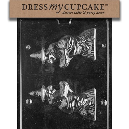 Dress My Cupcake dmch074set Chocolate Candy Mold 3d, Strega, Set di 6