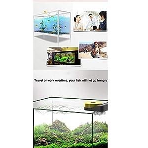 ZRZJBX Aquarium Futterautomat Automatischer Fischfutterautomat 400Ml GroßE KapazitäT Mit Digitaler Timer Digitale Fisch Essen Timer,Yellow