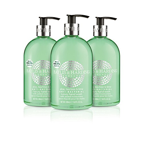 Baylis & Harding Aloe/Tea Tree/Lime Anti Bacterial Hand Wash, 500 ml, Pack of 3