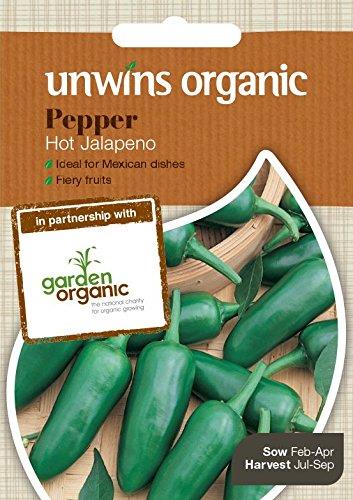 Unwins Pictorial paquete–Pepper (Chile) Jalapeno (orgánico)–20semillas