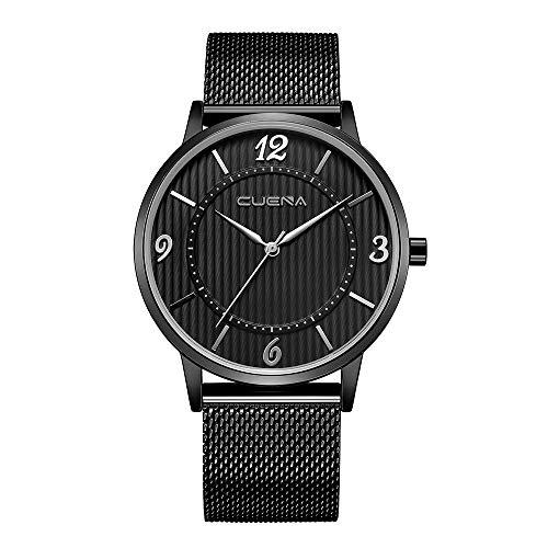Celucke Armbanduhr Herren Klassisch Uhr, Männer Uhren Minimalistische Quarzuhr Wasserdicht Herrenuhren mit Edelstahl Armband