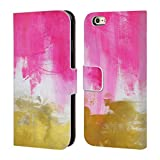 Head Case Designs Offizielle Mai Autumn Pink Und Gold Abstrakt Brieftasche Handyhülle aus Leder für iPhone 6 / iPhone 6s