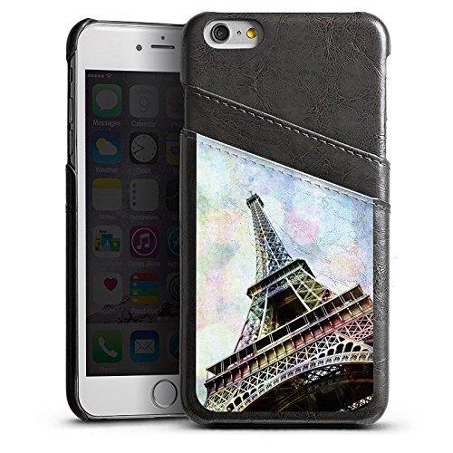 Apple iPhone 5s Housse étui coque protection Tour Eiffel Paris France Étui en cuir gris