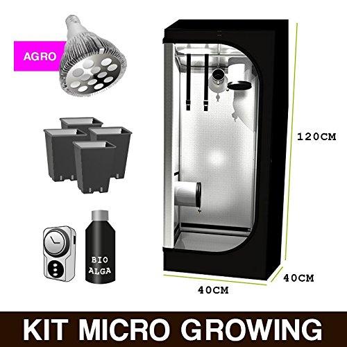 Kit Mini Growbox + LED Agro 40x 40x 120