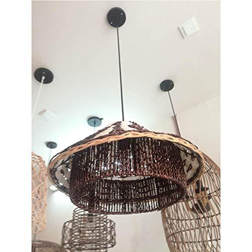 Araña de bambú proyecto del hotel lámpara de araña de madera de bambú lámpara de bambú araña de la sala de té Zen @ Sin bombilla_Excluyendo la fuente de luz E27