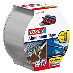 Tesa 56223-00001-01 Réparer Aluminium – Cinta de reparación adhesiva (gran adhesión, 10 m x 50 mm), color metálico