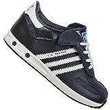 adidas Originals LA Trainer Kinder Sneaker Schuhe Legink BLAU Weiss Leder, Farbe:Dunkelblau, Schuhgröße:EUR 25 1/2
