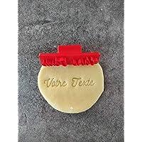 Tampon à biscuit personnalisé | Nom ou mots | 2