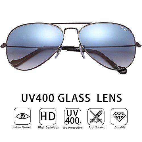 O-LET Damen Sonnenbrille grün grün Gr. Small, Gold Frame/Green Lens