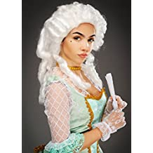 Peluca Barroca Señora aristocrática blanca ...