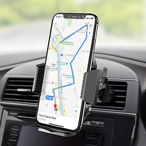 Beikell Soporte Móvil Coche, 360 Grados Rotación Soporte Móvil Teléfono Coche Magnético para Rejillas del Aire Soporte para iPhone X/8/7, Huawei P9, Samsung Galaxy S8/ S7 Plus, GPS, MP3 Player y Más
