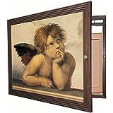Tapa contador cuadro de luz Moldura c/cuelga llaves 1 puerta, abre a Izda.m/ext 54 Alto x 54 Ancho x 5'7 cms.