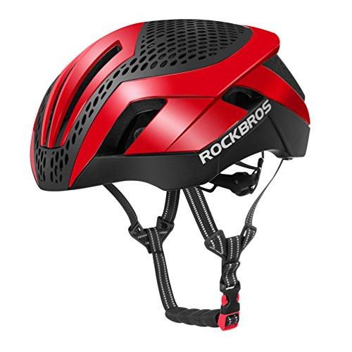 ROCKBROS Fahrradhelm Radhelm Integriert EPS/PC mit 26 Belütungsöffnungen 57-62cm Ultraleicht Stoßfest mit 2 Abnehmbaren Ersetzbaren Dekeln Mit CE