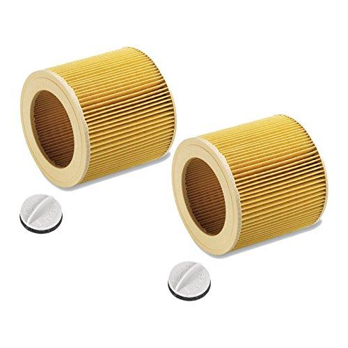 Patronenfilter Patronen für Nass-/ Trockensauger Nasssauger/Mehrzwecksauger/Waschsauger Kärcher A 2204 2254 2101 2201 WD2 WD3 MV2 MV3 WD2.200 WD3.500 P WD 3.200, WD 3.300 M wie 6.414-552.0