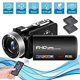 Videokamera Camcorder Full HD 1080P 30FPS 24.0MP 18X Digitalzoom Videokamera für YouTube mit 3 Zoll Bildschirm und 270 Grad Bildschirmdrehung