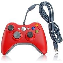 Ameego Xbox 360Manette de jeu filaire USB Gamepad Manette de jeu vidéo Joypad pour Microsoft & Windows PC