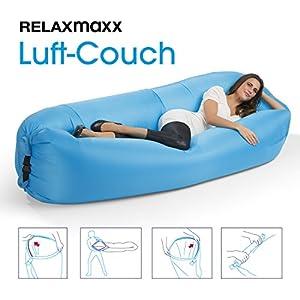 Version 2017! Brand Neue RELAXmaxx Luft-Couch - Jetzt noch einfacher aufzubauen! ( Outdoor Indoor Air Schlafsofa Luftmatratzen Couch Bett, Wasserdicht zusammenklappbar, Sitzsack für Lounging, Sommer Camping, Strand, Beach )